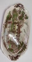 Romantic England J & G Meakin Tan Ightham Mote Serving Plate Kent A.D.1340