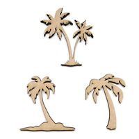 Wooden MDF Palm Tree Shape Embellishment Decoration Paradise Holiday Craft Shape