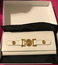 NWT Versace Signature Wallet | White Leather | Gold Hardware