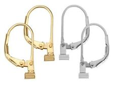 Earring Converters 2 Pair  Set  Convert Post to Lever Back Silver & Gold Combo
