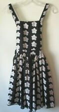 PArisienne Collection PINAFORE Black Nude DAISY Floaty FESTIVAL   Sz 8