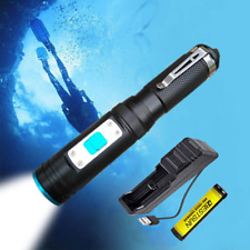 LUXNOVAQ Diving Torch LED Underwater Lights, Small Waterproof Scuba Diving 1000