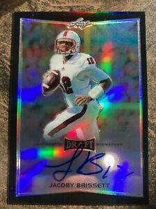 12/25 Jacoby Brissett RC 2016 Leaf DRAFT AuthenticSingature