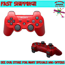 GENUINE RED SixAxis DualShock Wireless Controller (FOR SONY PLAYSTATION 3, PS3)
