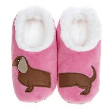 Snoozies washable cosy feet coverings Style simply pairables Dachshund Pink new