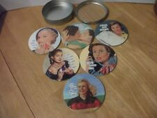 ANNE TAINTOR DRINK COASTERS 'POKER FACE' set of 6 in original tin case