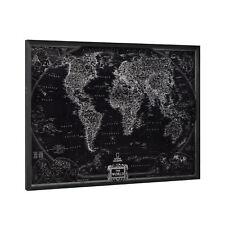 [art.work] Alu Wandbild 80x60cm Alte Weltkarte Globus Erdkugel Bild GERAHMT
