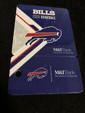 2020 Buffalo Bills Football Plastic Pocket Schedule With Keychain