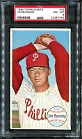 1964 Topps Giants #10 JIM BUNNING Philadelphia Phillies PSA 8 NM-MT!