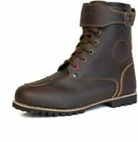 Berlin Motorcycle Brown Boots PU Leather Water Resistant Protection Urban KRONOX