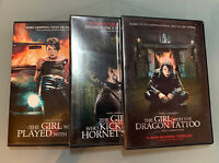 Girl Trilogy DVDs (...The Dragon Tattoo, ...Played With Fire, ...Hornet's Nest)