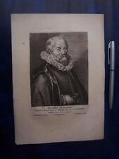 Antique  Copper Plate Engraving  date approx 1705 - Iacobus Matham