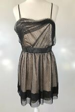Portmans Latte Lace Overlay Dress Size 14
