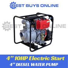 Diesel Water Transfer Pump 10 HP 4 Inch Electric Start High Volume 96 000l/hr
