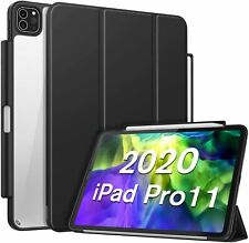 "Case for iPad Pro 11"" 2020/2018 Crystal Clear Hard Back Cover Auto Wake/Sleep"