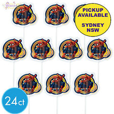 SPIDERMAN PARTY SUPPLIES 24 PLASTIC CUPCAKE CAKE PICKS WILTON SUPERHERO TOPPERS