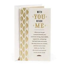 Hallmark Birthday Greeting Card for Husband Gold Green Leaf