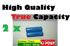 .Quality 2 x 14500 3.7V rechargeable battery TRUE Capacity 600 mAh (NOT FAKE) AU