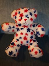"""Build A Bear American Stars White Red Blue Puppy Dog Collectable Toy 16"""""""