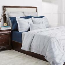 Sferra Tovino 100% Cotton Full / Queen Duvet Cover Indigo Made in Italy $849