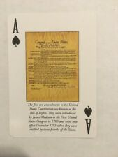 America History Documents Playing Cards Constitution Gettysburg Independence