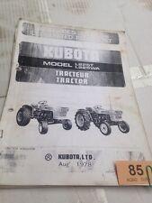Kubota L225T L225 WA Parts Book