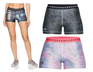Under Armour UA Women's HeatGear Armour Printed Shorty Shorts - New