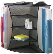 Steel Mesh Desktop Corner Organizer Office Desk File Folder Racks Holders Stand