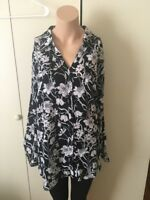 NY Collection Woman Plus Size Printed Utility Blouse Size 3x