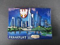 Magnet Frankfurt Skyline Poly Relief 7 cm Germany Souvenir,NEU