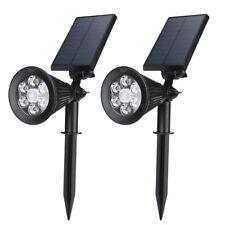 6 LED Garden Landscape Lamp Solar LED Spotlight Outdoor Lighting Wall Lights