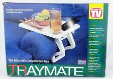 "TrayMate ""As Seen on TV"" Sofa Armrest Tray Arm TV Table Adjustable Dove Gray"