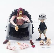 One Piece Portrait of Pirates Limited Ver. Corazon & Law 14cm/12cm PVC Figure NB