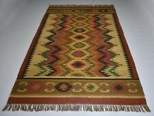Ikat Attractive Jute Wool Area Rug Home Decorative 5x8 Feet Rag/Carpet DN-874