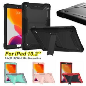 """Case For iPad 8th 7th Generation 10.2"""" 2020 Heavy Duty Shockproof Cover Stand"""