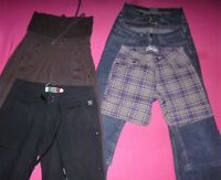 LOT FILLE -RENTREE -PANTACOURT JEANS  LEVIS-TOILE ROXY-SPORT DECATHLON-T.14/16