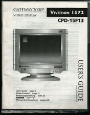 Gateway 2000 Computer System Video Display User's Guide & Reference 102021WEEB