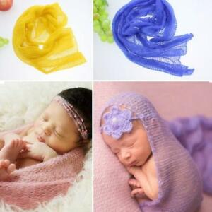 Newborn Baby Infant Girl Boy Bed Wrap Blanket Swaddle Cloth Photography Gift C