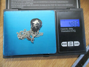 Vintage Thai Niello Siam Gods and Goddesses  Silver Pendant Necklace