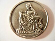 Pieta Medal Token with Saint Augustine Quote   New! MADE IN ITALY!