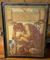 Poems Childhood Eugene Field Color Illustrated Maxfield Parrish 1922 Art Deco NR