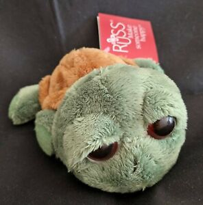 Russ Berrie Shecky the Turtle Stuffed Animal Plush New with Tag NWT