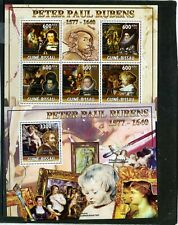 GUINEA BISSAU 2010 PAINTINGS BY PETER PAUL RUBENS SHEET OF 5 STAMPS & S/S MNH