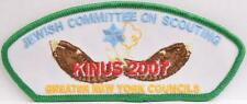 BSA TA-165 Greater NY Councils GNYC Jewish JCOS Kinus 2007 CSP SAP Scout Patch
