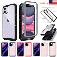 For iPhone 11 Pro Max Case Rugged Hybrid Heavy Duty Shockproof Clear Back Cover