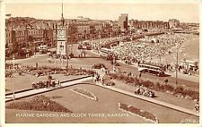 BR57905 marine gardens and clock tower margate double decker bus car    uk
