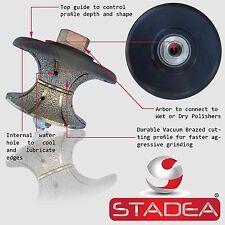 "Marble Stone Granite Diamond Profile Wheel Hand Profiler Bits 1 1/2"" V40- STADEA"