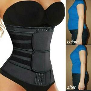 Waist Trainer Cincher Trimmer Sweat Belt Slim Body Shaper Sauna GYM Shapewear UK
