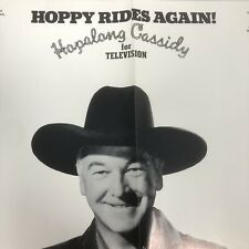 Vintage Western TV Poster HOPPY RIDES AGAIN Hopalong Cassidy for Television