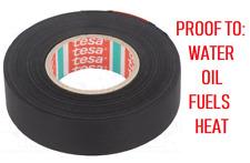 TESA 51025 Fabric tape PET wool OEM Original Equipment 9mm or 19mm 25 meter roll
